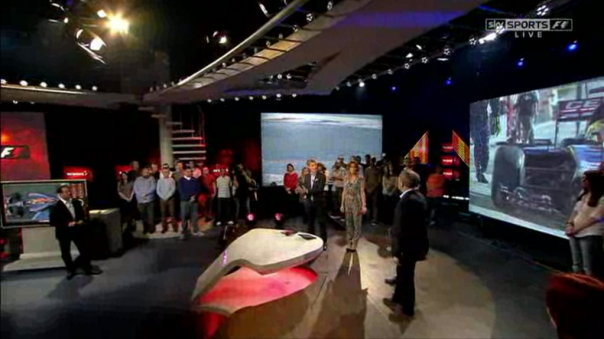 The F1 Show studio, screen grabbed from the launch episode this year (March 7th, 2014).