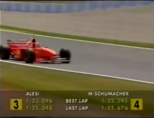 1997 Spanish GP - best vs last lap