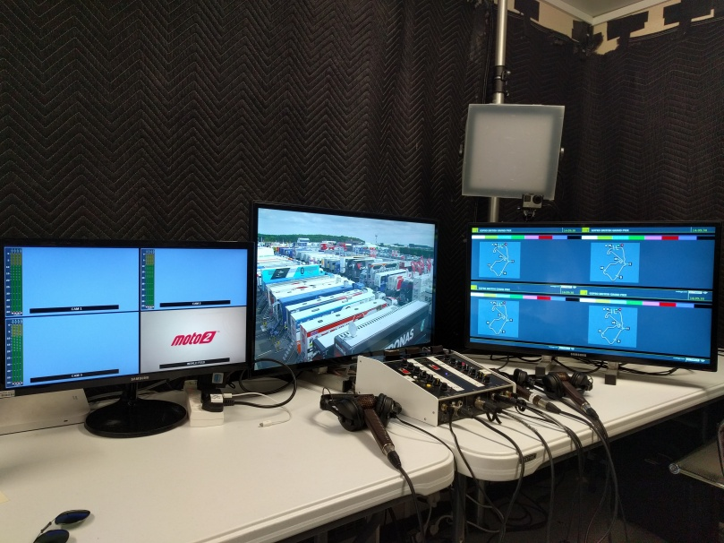 2018 British MotoGP - BT commentary booth.jpg