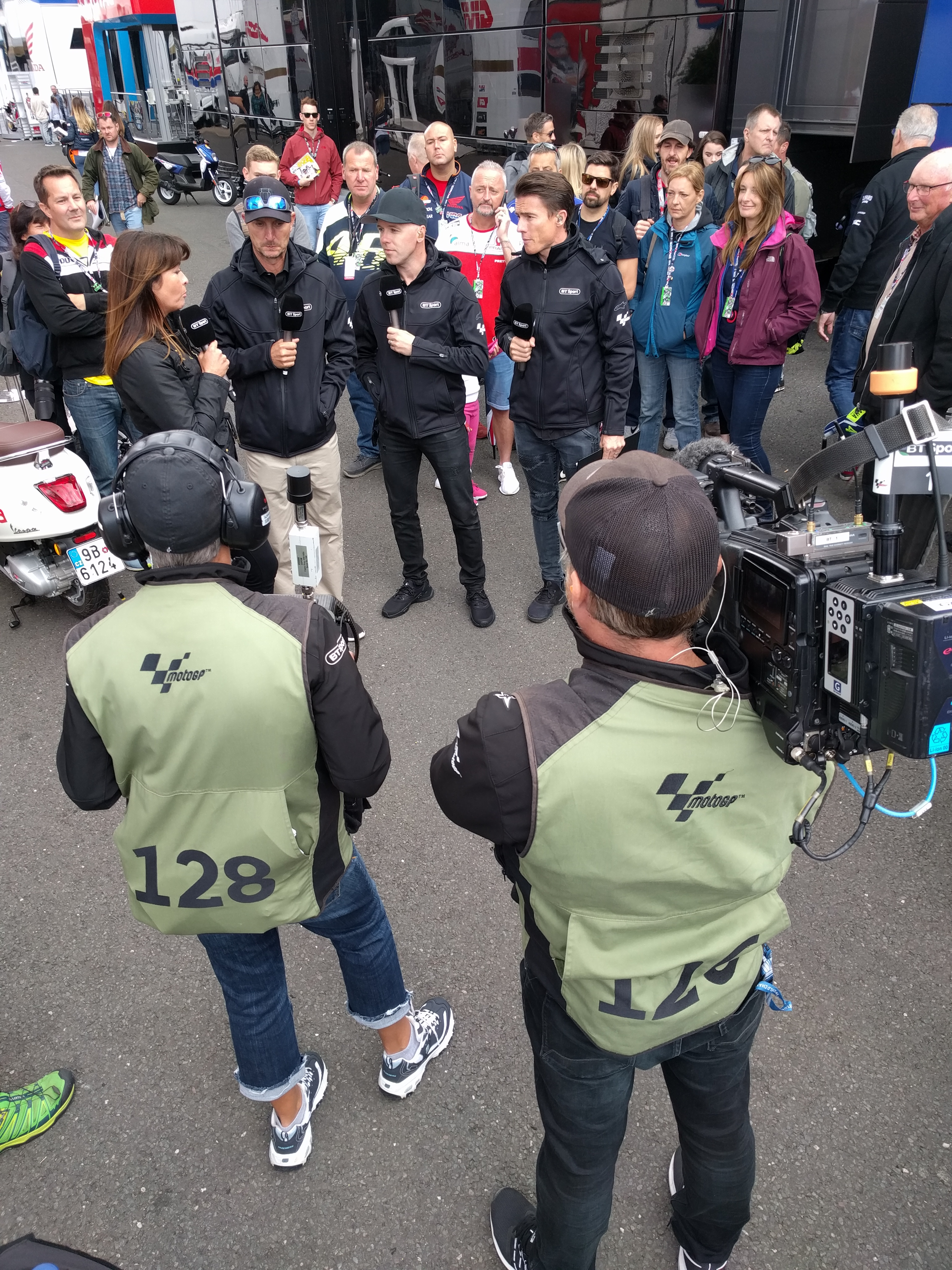 behind the scenes with bt sport u2019s motogp production team